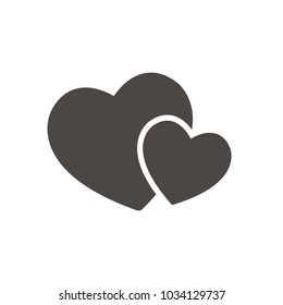 Love Icon Solid Vector. Love symbol. Valentine's Day sign, emblem isolated, Flat style for icon, graphic,web design, and logo.
