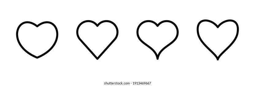 Vector de icono de amor. Vector de icono del corazón. Como un vector de icono.