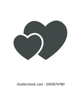 Love Icon Vector. Love symbol. Valentine's Day sign, Flat style for icon, graphic,web design, and logo template.