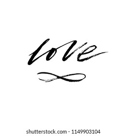 Love infinity images stock photos vectors shutterstock love and infinity romantic hand lettering for design greeting cards tattoo holiday invitations altavistaventures Images