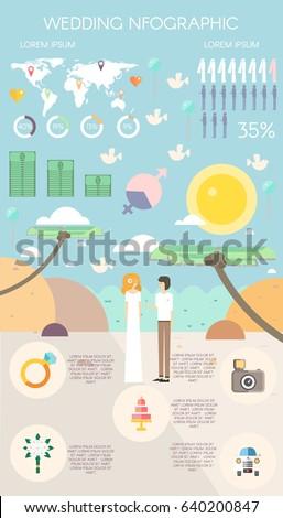love infographics elements wedding elementoutdoor 450w 640200847 love infographics elements wedding infographics element outdoor