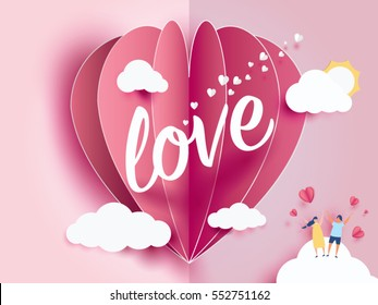Love Invitation Card Valentines Day Abstract Stock Vector Royalty