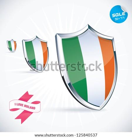 Love Ireland Flag Illustration Sign Symbol Stock Vector Royalty