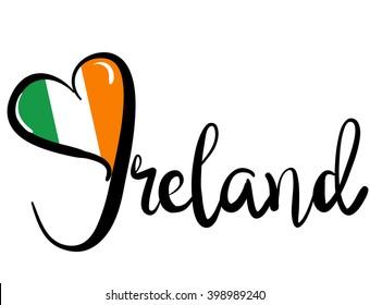 I Love Ireland - Vector Graphic