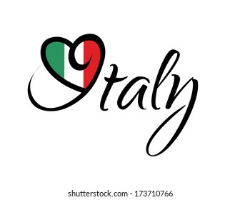 I Love Italy - Vector Graphic