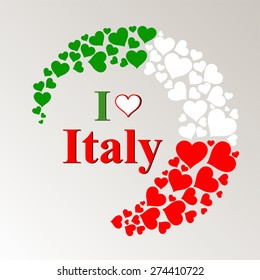 I Love Italy. Vector Illustration