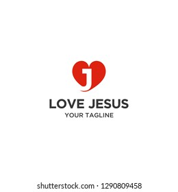 Love jesus Logo, Please contact me if you want to change the company name or tagline.