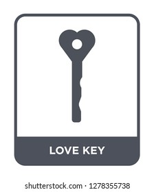 love key icon vector on white background, love key trendy filled icons from Birthday party and wedding collection, love key vector illustration