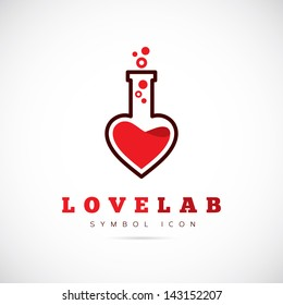 Love lab logo template