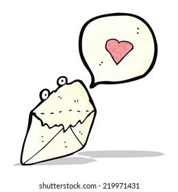 love letter cartoon