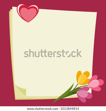 Love Letter Frame Valentines Day Frame Stock Vector Royalty Free