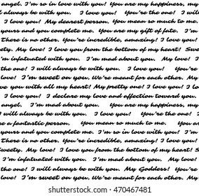 Love letter. Seamless vector background
