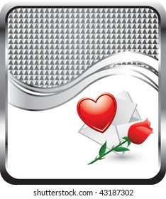 love letter silver checkered wave backdrop