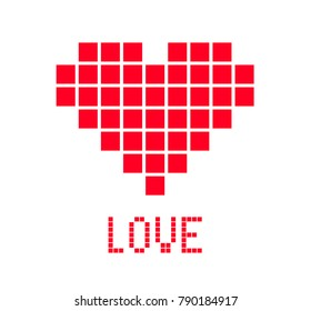 Love Letters, Red Heart, Mosaic