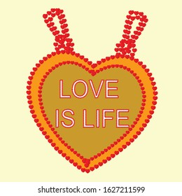 love is life locket is a pendant that  open to reveal a space used for love emotion.Locket is usually given to loved one on holiday such as Valentine's day and occasions such as christmas,weddings.
