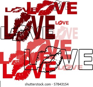 Love with Lips Design