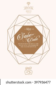 Love Locked/ happily ever after/ Save the date/ Love masthead/ wedding proposal/ Diamond line art/ Diamonds are forever