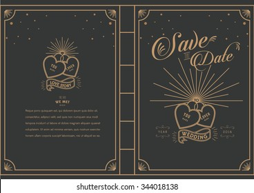 Love Locked/ Love story book theme wedding card/ happily ever after/ Save the date/ Love masthead/ wedding proposal