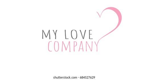 Love logo design template. Brand, icon, badge or label of heart shape. Creative Concept vector.