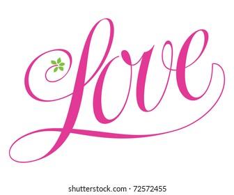 Love logo vector lettering