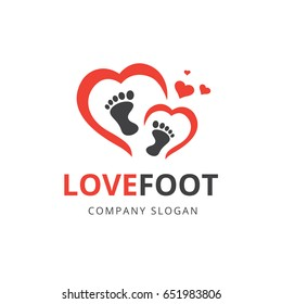 Love  Logo,Love Feet Logo Icon