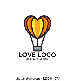 love logon heart with graphic creative template
