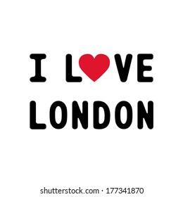 I love London letter for design and decoration.