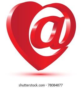 Love mail Symbol.Vector