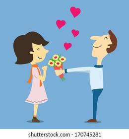 Enamorados Caricatura Imágenes Fotos De Stock Y Vectores Shutterstock