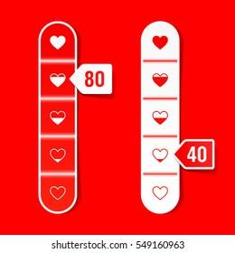Love meter, Happy Valentines Day celebration concept, vector illustration