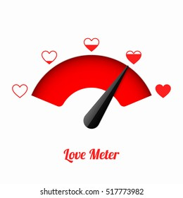 Love meter. Valentine's day card design element.