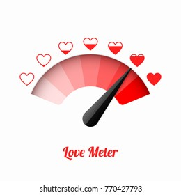 Love meter, Valentine's Day card design element