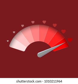 Love meter, vector illustration