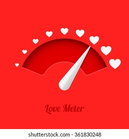 Love meter, vector illustration