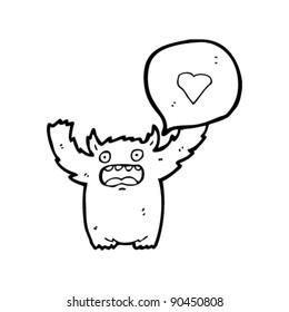 love monster cartoon