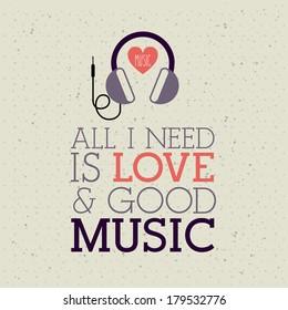 love music design over pattern  background vector illustration
