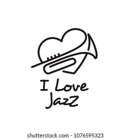 I love music jazz logo design inspiration