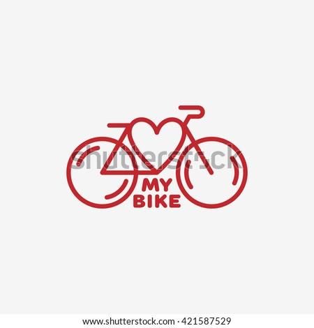 love my bike label template design stock vector royalty free
