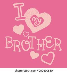 I Love My Brother Kids Tshirt Screen