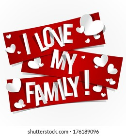 Royalty Free I Love My Family Images Stock Photos Vectors