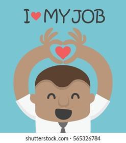 love my job, of african businessman