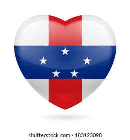 I love Netherlands Antilles. Heart with flag design.