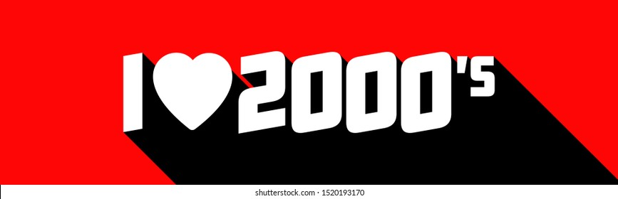 I love 2000's on red banner