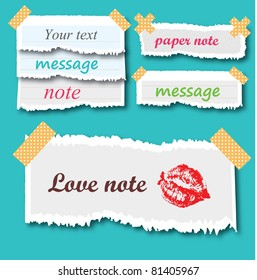 Love and Other Notes.Vector Illustration