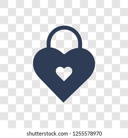 love Padlock icon. Trendy love Padlock logo concept on transparent background from Birthday party and wedding collection