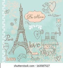 Фотообои Love in Paris background