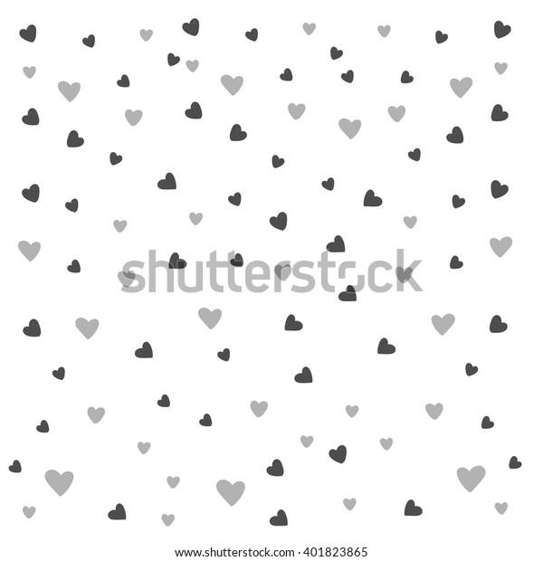 Love Pattern Cute Pattern Wedding Cupple Stock Vector Royalty
