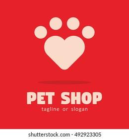 LOVE PET SHOP LOGO ICON SYMBOL TEMPLATE