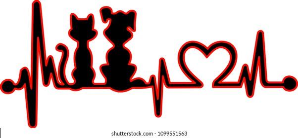 Love pets cardiogram