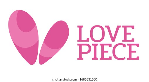 love piece pink logo. This logo is suitable for matchmaking services